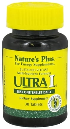 DROPPED: Nature's Plus - Ultra I Multi Nutrient Supplement Sustained Release - 30 Tablets CLEARANCE PRICED