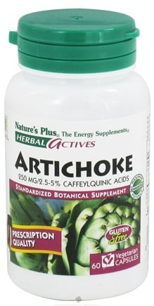 DROPPED: Nature's Plus - Herbal Actives Artichoke 250 mg. - 60 Vegetarian Capsules CLEARANCE PRICED