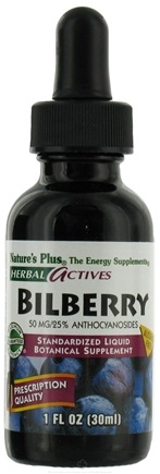 DROPPED: Nature's Plus - Herbal Actives Bilberry Liquid Suspension 50 mg. - 1 oz.