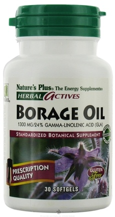 DROPPED: Nature's Plus - Herbal Actives Borage Oil 1300 mg. - 30 Softgels