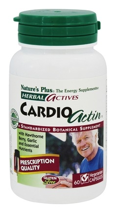 DROPPED: Nature's Plus - Herbal Actives CardioActin - 60 Capsules