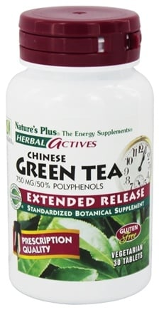 DROPPED: Nature's Plus - Herbal Actives Chinese Green Tea Extended Release 750 mg. - 30 Tablets