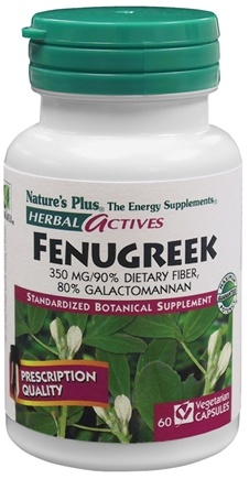 DROPPED: Nature's Plus - Herbal Actives Fenugreek 350 mg. - 60 Vegetarian Capsules