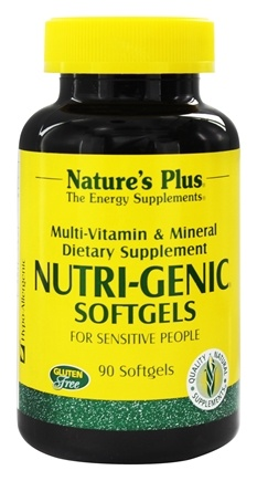 DROPPED: Nature's Plus - Nutri-Genic Multi Vitamin and Mineral Supplement - 90 Softgels