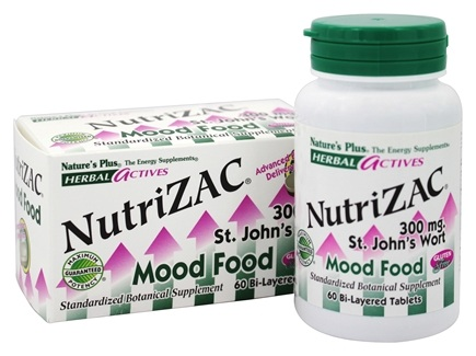 DROPPED: Nature's Plus - Herbal Actives NutriZAC - 60 Tablets CLEARANCE PRICED