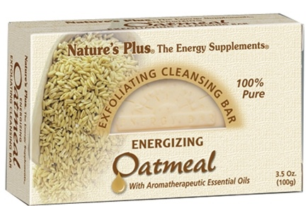 DROPPED: Nature's Plus - Exfoliating Cleansing Bar Energizing Oatmeal - 3.5 oz. CLEARANCE PRICED