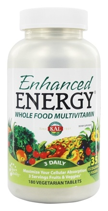 Kal - Enhanced Energy Whole Food MultiVitamin - 180 Vegetarian Tablets