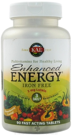 DROPPED: Kal - Enhanced Energy With Lutein Iron Free - 90 Tablets