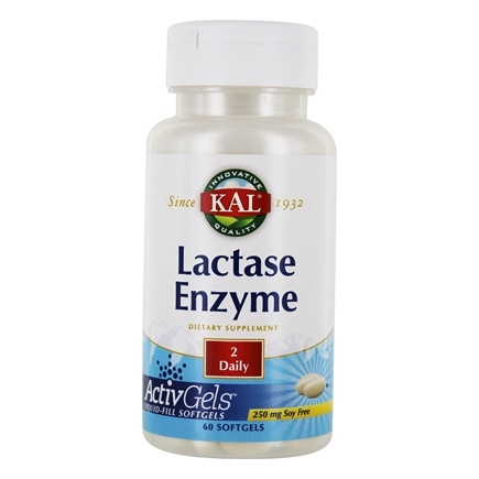 Kal - Lactase Enzyme 250 mg. - 60 Softgels