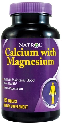 DROPPED: Natrol - Calcium with Magnesium - 120 Tablets CLEARANCE PRICED