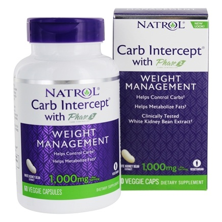 Natrol - Carb Intercept With Phase 2 - 60 Capsules