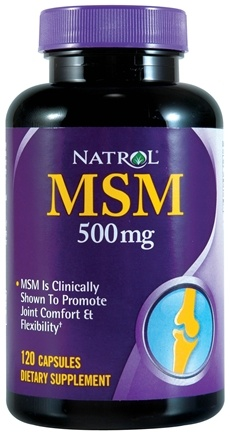 DROPPED: Natrol - MSM 500 mg. - 120 Capsules