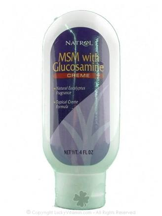 DROPPED: Natrol - MSM with Glucosamine Creme - 4 oz. CLEARANCE PRICED