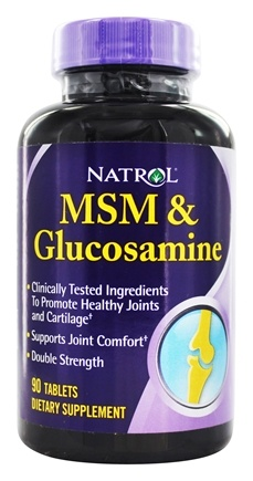 Natrol - MSM With Glucosamine Double Strength - 90 Tablets