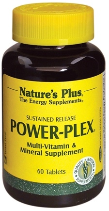 DROPPED: Nature's Plus - Power-Plex Sustained Release - 60 Tablets