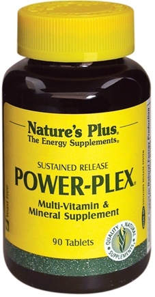 DROPPED: Nature's Plus - Power-Plex Multi Vitamin & Mineral Supplement Sustained Release - 90 Tablets