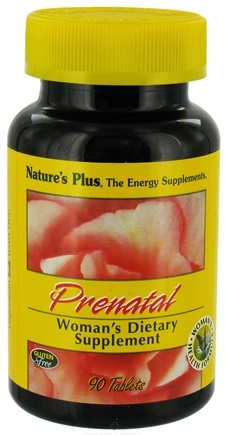 DROPPED: Nature's Plus - Prenatal Woman's Dietary Vitamin Supplement - 90 Tablets CLEARANCE PRICED