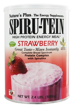 Nature's Plus - Spiru-Tein High Protein Energy Meal Strawberry - 2.4 lbs.