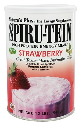 Nature's Plus - Spiru-Tein High Protein Energy Meal Strawberry - 1.2 lbs.