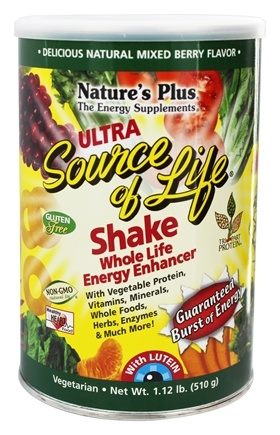 Nature's Plus - Ultra Source of Life Shake Mixed Berry - 1.12 lbs.