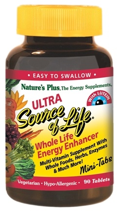 DROPPED: Nature's Plus - Ultra Source Of Life With Lutein Mini-Tabs - 90 Tablets