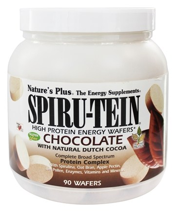 Nature's Plus - Spiru-Tein High Protein Energy WAFERS Chocolate - 90 Wafers