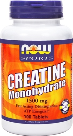 DROPPED: NOW Foods - Creatine Monohydrate 1500 mg. - 100 Tablets