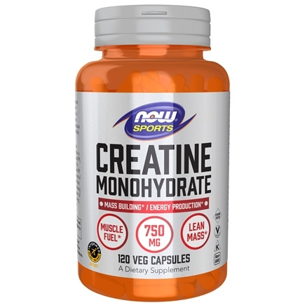 DROPPED: NOW Foods - Creatine Monohydrate 750 mg. - 120 Capsules