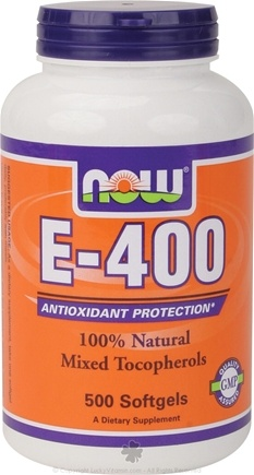 DROPPED: NOW Foods - E-400 Mixed Tocopherols - 500 Softgels CLEARANCE PRICED