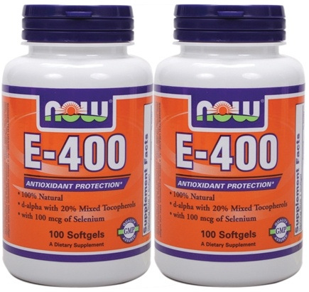 DROPPED: NOW Foods - E-400 Mixed Tocopherols + Selenium (100+100) Twin Pack Special - 200 Softgels
