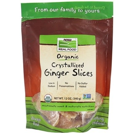 NOW Foods - Crystallized Ginger Slices - 12 oz.