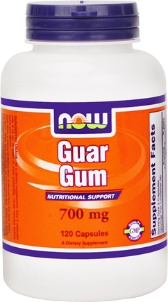 DROPPED: NOW Foods - Guar Gum 700 mg. - 120 Capsules
