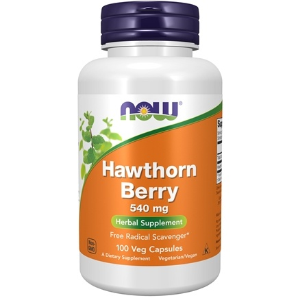 NOW Foods - Hawthorn Berry 540 mg. - 100 Capsules