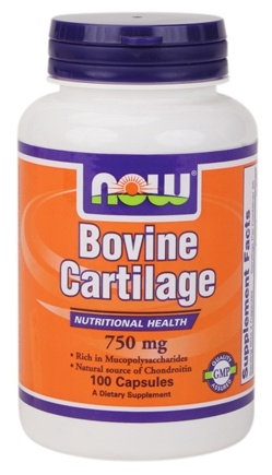 DROPPED: NOW Foods - Bovine Cartilage 750 mg. - 100 Capsules