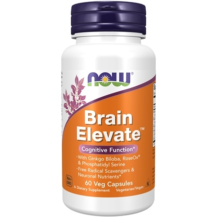 NOW Foods - Brain Elevate Vegetarian - 60 Vegetarian Capsules