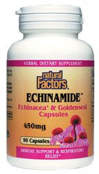 DROPPED: Natural Factors - Echinamide Echinacea 400 Mg & Goldenseal 50 Mg - 90 Capsules