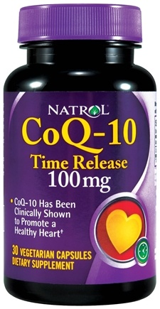 DROPPED: Natrol - CoQ-10 Time Release 100 mg. - 30 Vegetarian Capsules