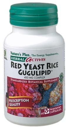 DROPPED: Nature's Plus - Herbal Actives Red Yeast Rice - 60 Vegetarian Capsules CLEARANCE PRICED
