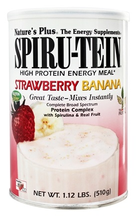 Nature's Plus - Spiru-Tein High Protein Energy Meal Strawberry Banana - 1.12 lbs.