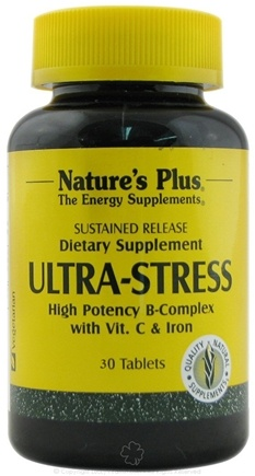 DROPPED: Nature's Plus - Ultra Stress with Iron Sustained Release - 30 Tablets