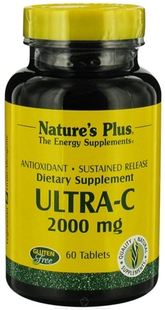DROPPED: Nature's Plus - Ultra-C with Rose Hips Sustained Release 2000 mg. - 60 Tablets CLEARANCED PRICED