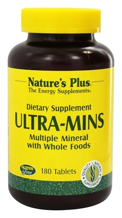 Nature's Plus - Ultra-Mins Multiple Mineral Supplement - 180 Tablets