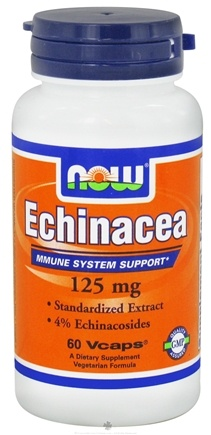 DROPPED: NOW Foods - Echinacea Standardized Extract 125 mg. - 60 Vegetarian Capsules