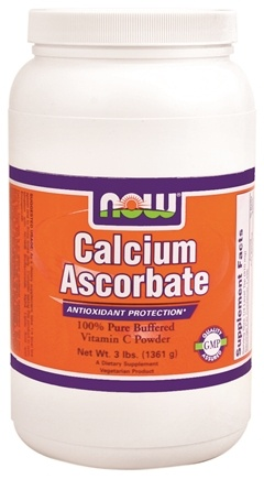 DROPPED: NOW Foods - Calcium Ascorbate 100% Pure Buffered Vitamin C Powder - 3 lbs.