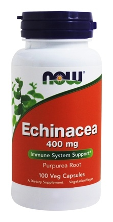 NOW Foods - Echinacea (Purpurea Root) 400 mg. - 100 Capsules