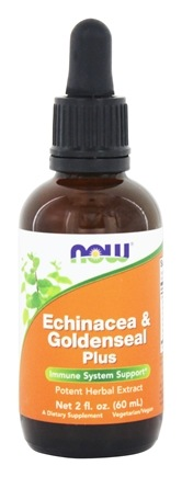 NOW Foods - Echinacea & Goldenseal Plus Potent Herbal Extract - 2 oz.