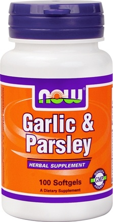 DROPPED: NOW Foods - Garlic and Parsley - 100 Gelcaps