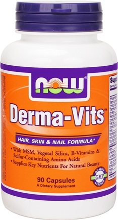 DROPPED: NOW Foods - Derma Vits Hair Skin and Nail Formula - 90 Capsules