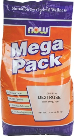 DROPPED: NOW Foods - Dextrose Mega Pack - 15 lbs.