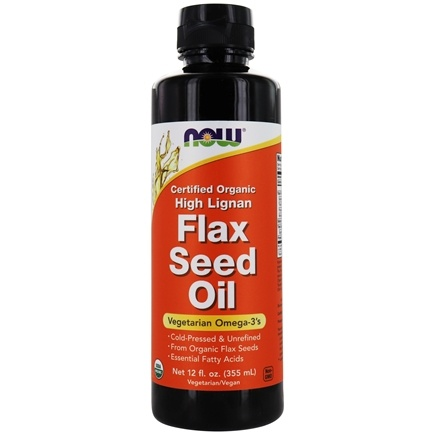 DROPPED: NOW Foods - High Lignan Flax Oil Organic Non-GE - 12 oz. CLEARANCED PRICED